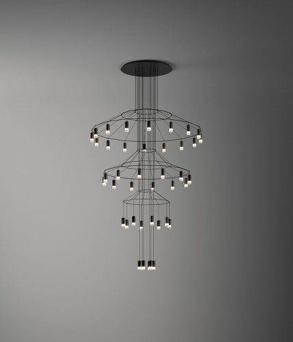 Wireflow Chandelier Vibia